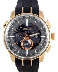 Seiko Men's Leather Watch - Multicolor