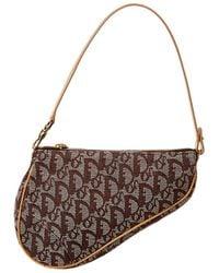 Dior Brown Trotter Canvas Mini Saddle Bag