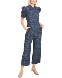 Joie Morgen Silk Jumpsuit - Blue