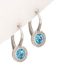 Diana M. Jewels - . Fine Jewelry 14k 1.63 Ct. Tw. Diamond & Topaz Earrings - Lyst