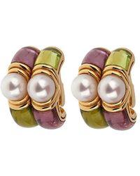 BVLGARI Bulgari 18k Gemstone Earrings - Metallic