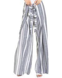 Drew Connie Linen-blend Pant - Black