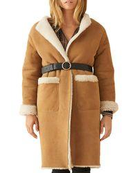 Ba&sh Lyam Leather Coat - Brown