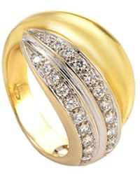 Pomellato 18k Two-tone 0.42 Ct. Tw. Diamond Ring - Metallic
