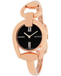 Gucci Women's Horsebit Watch - Black