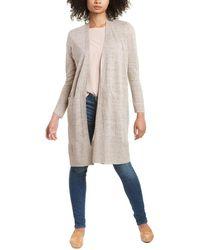 Eileen Fisher Long Linen Cardigan - Natural