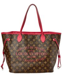 Louis Vuitton Limited Edition Pink Ikat Flower Monogram Canvas Neverfull Mm - Multicolour