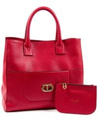 Dee Ocleppo Dee Montecarlo Leather Tote - Red