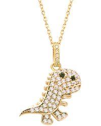 Gabi Rielle - 22k Over Silver Cz Dinosaur Necklace - Lyst