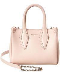 Lanvin Journee Micro Leather Shoulder Bag - Pink