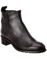 Aquatalia Orva Weatherproof Leather Bootie - Black