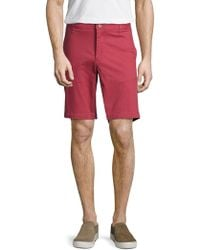 """Tailor Vintage 9"""" Stretch Twill Walking Short - Red"""