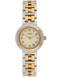 Hermès Hermes Clipper Watch, Circa 2000s - Metallic