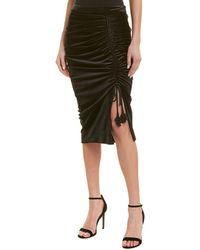 Rebecca Minkoff Romy Ruched Velvet Skirt - Black