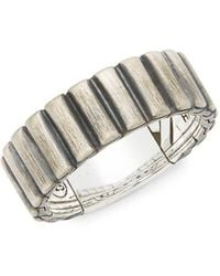 John Hardy - Sterling Silver Band Ring - Lyst