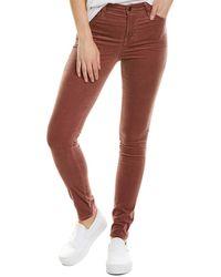 J Brand Maria Warm Sable High-rise Skinny Leg - Purple