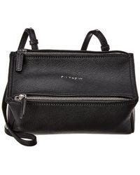 1f52ac79b39 Givenchy Women's Medium Pandora Pepe Leather Crossbody Bag - Black in Gray  - Lyst