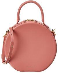 Mansur Gavriel Circle Leather Crossbody - Pink