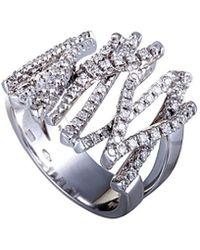 Damiani - 18k 0.87 Ct. Tw. Diamond Ring - Lyst