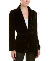 Joie Anasophia Silk-blend Jacket - Black