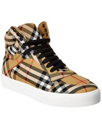 Burberry Vintage House Check Leather High-top Sneaker - Multicolour