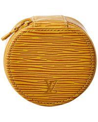 Louis Vuitton Yellow Epi Leather Ecrin Bijoux 8