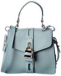 Chloé Aby Day Small Leather Shoulder Bag - Blue