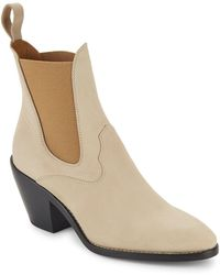 Chloé - Stacked-heel Leather Chukka Boots - Lyst