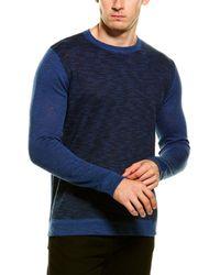 Forte Cashmere Linen-blend Crewneck Sweater - Blue
