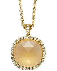 Marco Bicego Jaipur 18k 0.24 Ct. Tw. Diamond & Citrine Pendant - Metallic