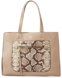 Vince Camuto - Elvan Leather Tote Bag - Lyst