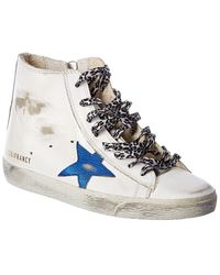 Golden Goose Deluxe Brand Francy Leather High-top Trainer - White