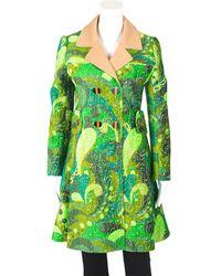 Louis Vuitton Paisley Coat, Size Fr 34 - Green