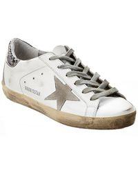 Golden Goose Deluxe Brand - Superstar Leather Sneaker - Lyst