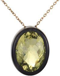 Roberto Coin 18k Rose Gold Quartz Necklace - Metallic