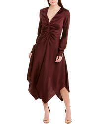 Jonathan Simkhai Handkerchief Hem A-line Dress - Pink