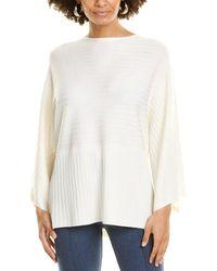 St. John Bateau Neck Wool Sweater - White