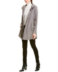 Via Spiga Ruched Anorak - Grey