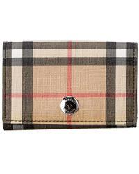 Burberry Lark Vintage Check E-canvas Wallet - Black
