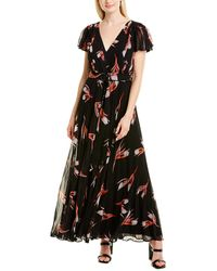 Fame & Partners Floral Print Pleated Jumpsuit - Black
