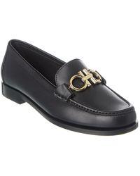 Ferragamo Gancini Loafers - Black