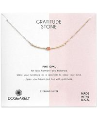 Dogeared Silver Crystal Necklace - Pink
