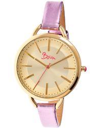 Boum - Women's Champagne Watch - Lyst