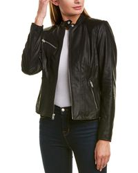 Marc New York Felicity Glove Leather Jacket - Black