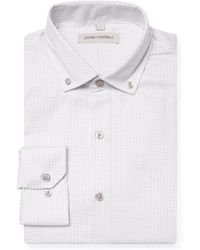 James Campbell - Printed Button-down Barrel Dress Shirt - Lyst