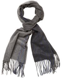 Saks Fifth Avenue   Striped Gradient Cashmere Scarf   Lyst