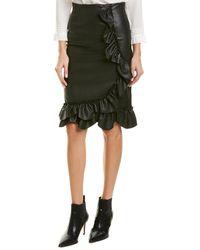 Rebecca Taylor - Ruffled Pencil Skirt - Lyst