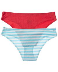 Honeydew Intimates Intimates 2pk Skinz Fused Microfiber Hipster - Blue