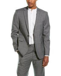 Vince Camuto 2pc Slim Fit Wool-blend Suit - Grey