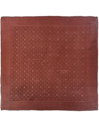 Louis Vuitton Brown Silk Scarf